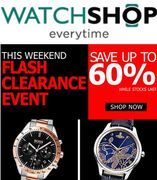 Watches for LESS. FLASH SALE THIS WEEKEND! up to 60% off at WATCHSHOP