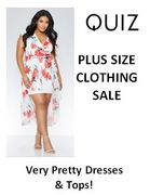 PLUS SIZE CLEARANCE / SALE at Quiz - Pretty Dresses & Tops!