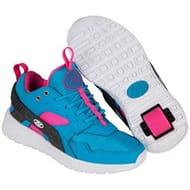 Heelys Force Aqua/Grey/Pink Heely Shoe