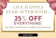 25% off Everything Ends Midnight