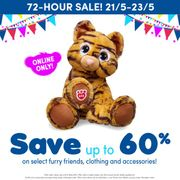 Build a Bear 72 Hours to Save! up to 60% off Select Styles! Ends 23rd