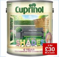 2 for £30 on 2.5L Culprinol Garden Shades