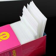 Isuper 325 Pcs Lint Free Nail Art Gel Polish Remover Cotton Pad Nail Wipe