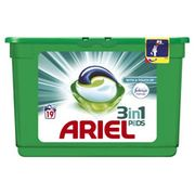 Ariel 3 in 1 Liquid Tablets Febreze 19 Washes Free C&C