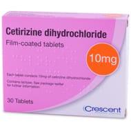4 X Cetirizine 10mg Hayfever Tablets - 30 Tablets