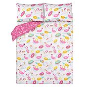 Summer Inflatables Reversible Print Easy Care Duvet Set - from £10