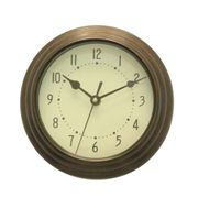 Bronze Mini Wall Clock Only £2.79!