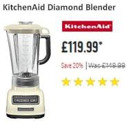 SAVE £30. KitchenAid Diamond Blender. Black / Cream / Silver / Red / White