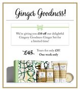 Get £10 off Our Gingery Goodness Set | One Week Only
