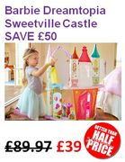 SAVE £50! Barbie Dreamtopia Sweetville Castle. BETTER than HALF PRICE