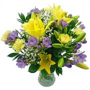 Clare Florist Wonderful Freesia and Lily Bouquet