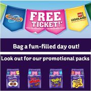 LEGOLAND, THORPE PARK, WARWICK CASTLE , 2 for 1 ENTRY with CADBURYS VOUCHER