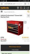 Get Halfords Professional 7 Drawer Ball-Bearing Chest Only £70