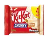4x Kit Kat Chunky White Chocolate Bars