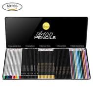 GHB 60PCS Sketching Drawing Art Colouring Pencils