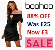 Up to 86% off Boohoo Dresses - from £2!