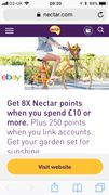 Get 8 X Nectar Points When You Spend £10 on Ebay