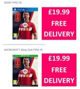 FIFA 18 PS4 / Xbox One £19.99 + FREE DELIVERY at Currys