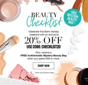 20% off at Look Fantastic (Plus Free Mystery Beauty Bag with Orders over £60)