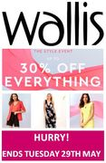Up to 30% off EVERYTHING at Wallis - until Tuesday!