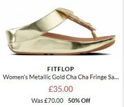 HALF PRICE FITFLOP at Brand Alley - MANY STYLES 50% OFF