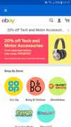 20% off Motor & Tech Ebay