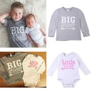 Big Brother Tops T-Shirt Little Sister or Brother Summer Romper