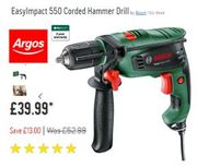 SAVE £13 EasyImpact 550 Corded Hammer Drill