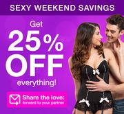 25% off EVERYTHING Sitewide at LoveHoney