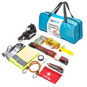 Top Tech 12 Pc / Pieces Car Breakdown Emergency First Aid Roadside Kit Set