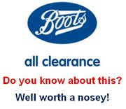 Know about BOOTS' CLEARANCE SECTION? Bargain Hunter Paradise!