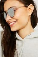 Flat Long Brow Bar Sunglasses