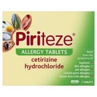 Piriteze Allergy Tablets 10mg 7pk
