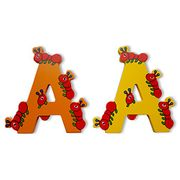 Wooden Jungle Animal Alphabet Letters Personalised Bedroom Wall Door Name (A)
