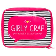 Happy Jackson 'Girly Crap' Wash Bag