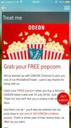 FREE Popcorn When You Buy an Odeon Cinema Ticket at Vodafone