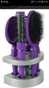 Salon Hairbrush Set with Mirror and Stand