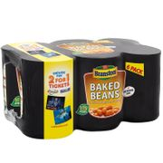Branston Baked Beans 6 X 410g Tins £2 at B&Ms