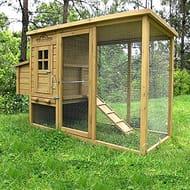 Wentworth Large Chicken Coop Hen Ark House Poultry Run Nest Box Rabbit Hutch
