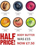 Body Butter Half Price at Body Shop