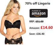 70% off Lingerie Deals at Amazon