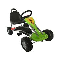 Outdoor Go Kart Ride on Car Metal with Pedal Plastic Wheels Handbrake G04 Green