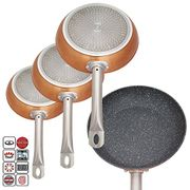 Deluxe Quality Professional Chef Set of 3 Non Stick Aluminium Copper Coated