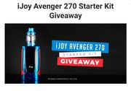 iJoy Avenger 270 Starter Kit Giveaway
