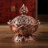 Lotus Incense Smoke Cone Aroma Burner Holder