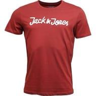 Jack and Jones Men's Traffic Tshirt Rosewood