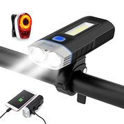 Bike Lights USB Rechargeable Bicycle Light Mode 4000mAh with Power Bank Function