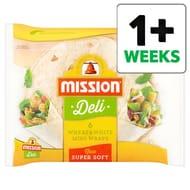 Mission Deli Wheat and White Mini Wraps 6 Pack