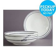Riviera Set of 4 Pasta Bowls - Blue
