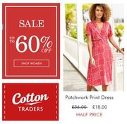 Get up to 60% off COTTON TRADERS SALE - Dresses, Shoes, Culottes, Trousers...